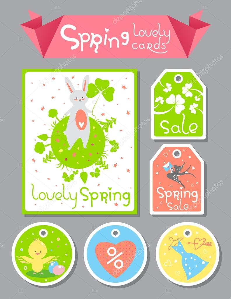 Lovely Spring cards set