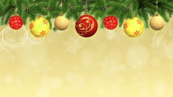 Animované vánoční a novoroční pozadí