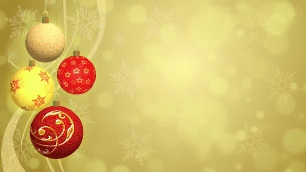 Vánoční koule - animované pozadí