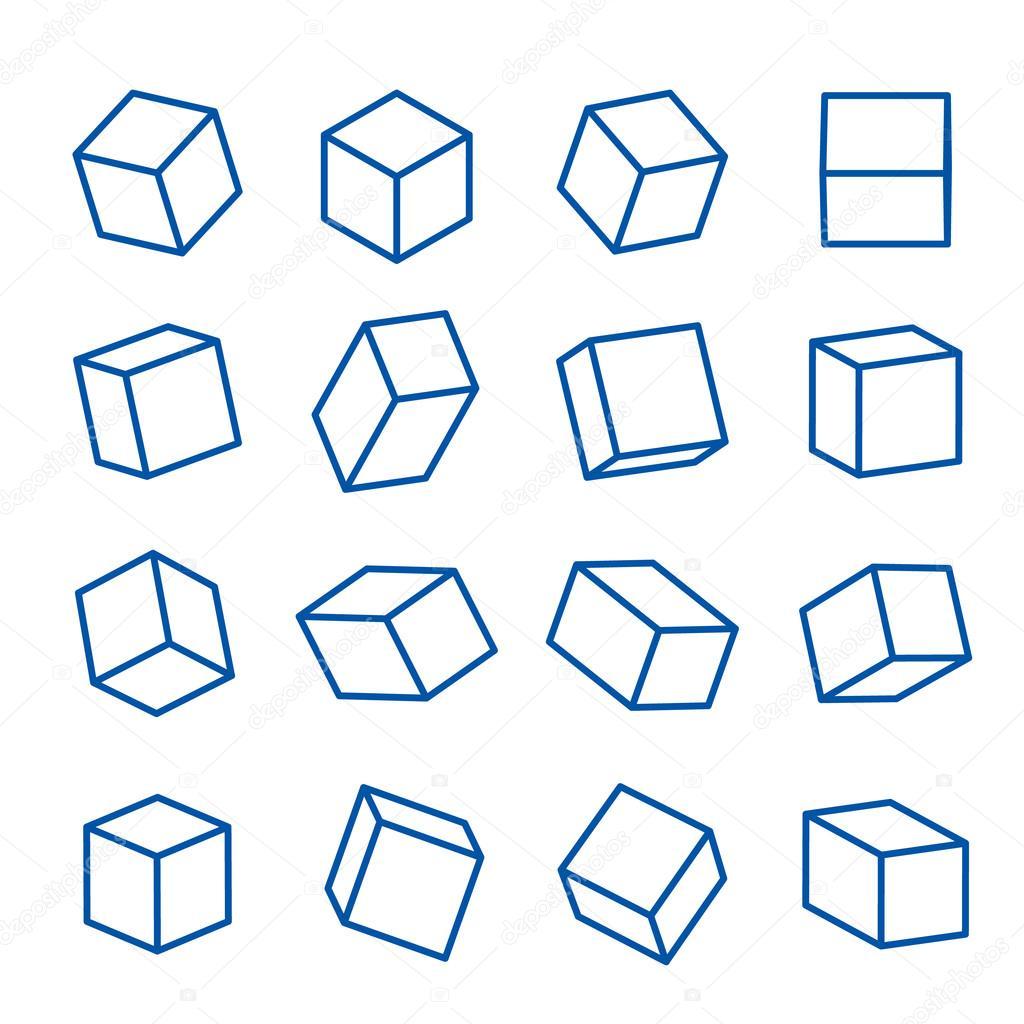 conjunto de formas geométricas, sólidos platónicos, vector ...