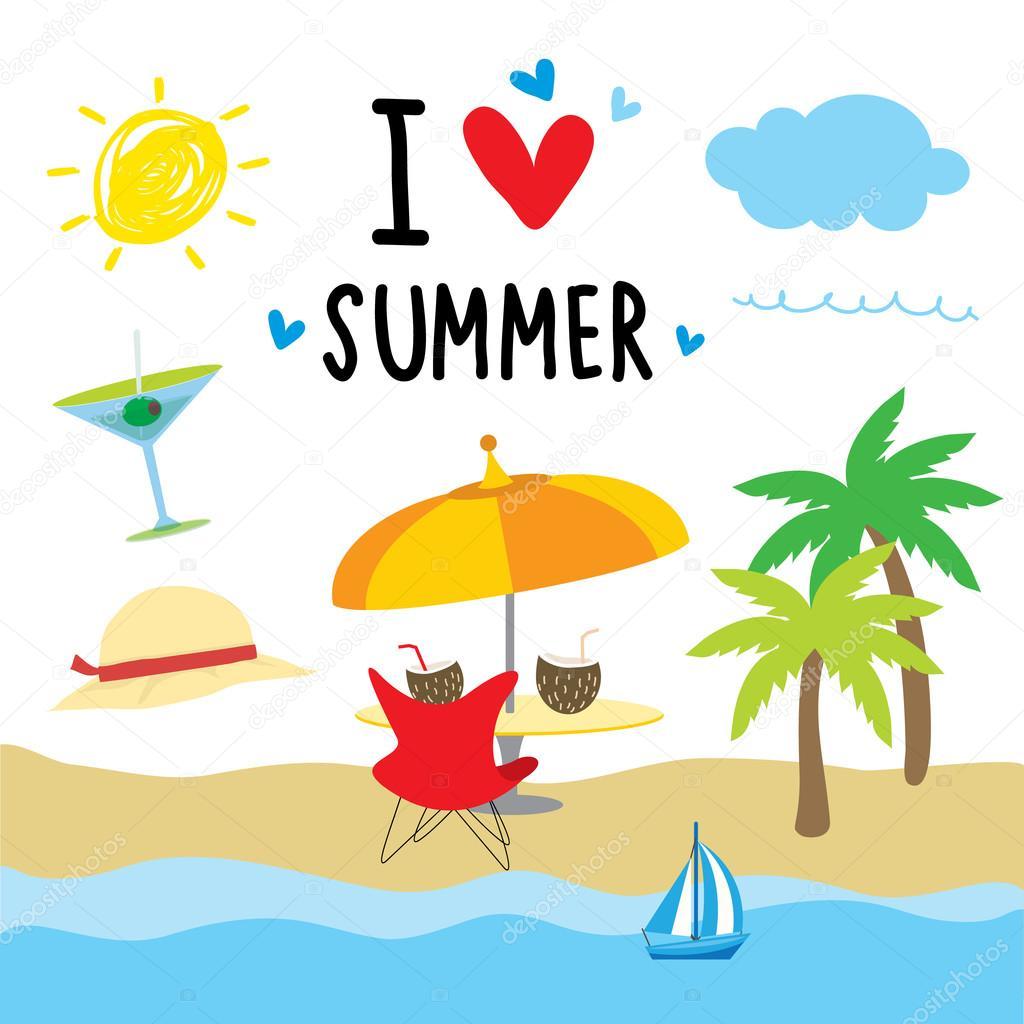 Resultado de imagen de verano dibujos animados