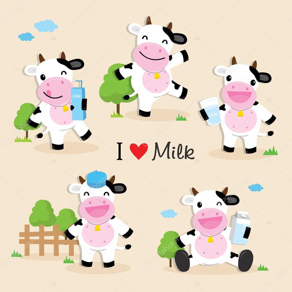 Imagenes Vacas Animadas Con Frases De Amor Vaca Lindo Personaje