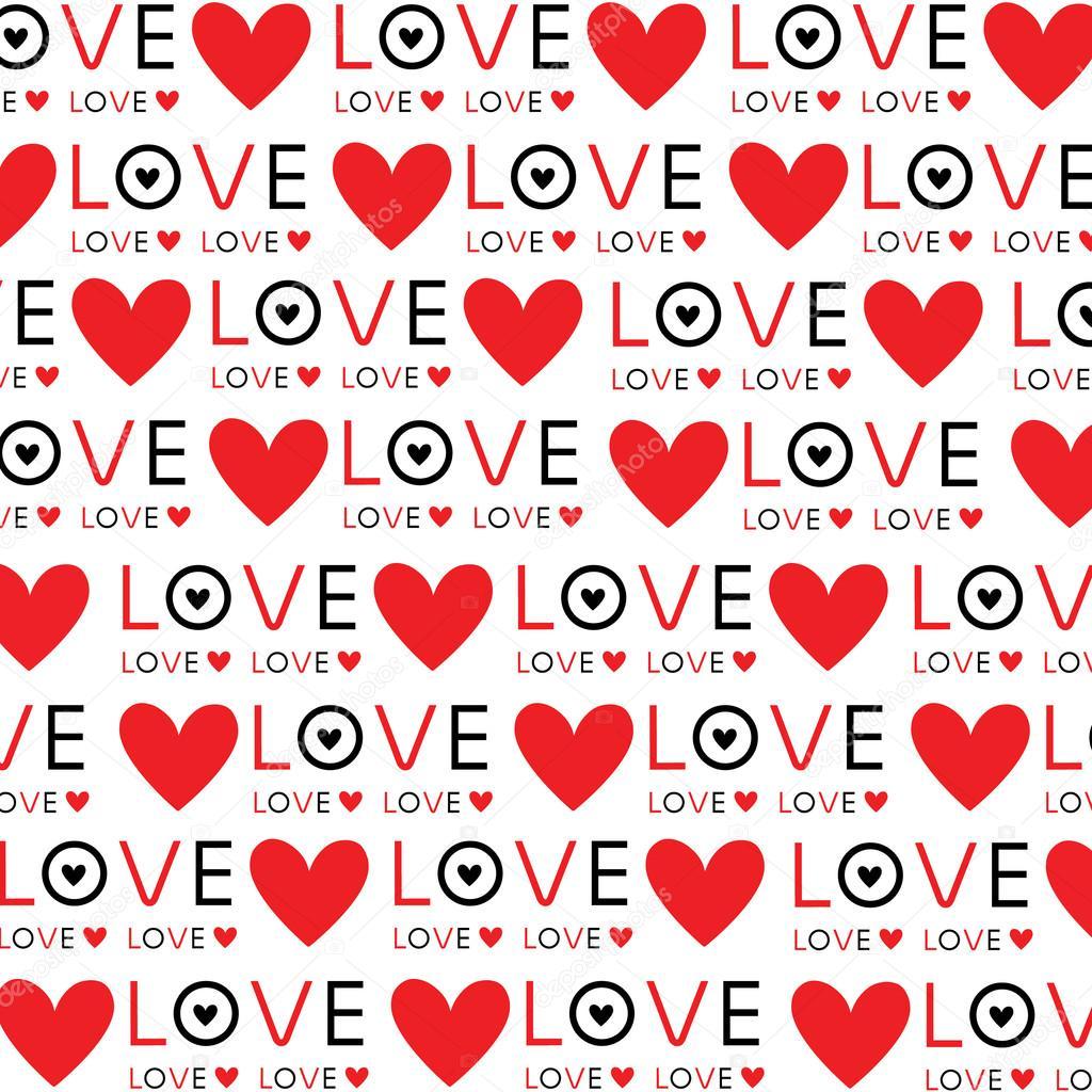 Background Wallpaper Love Heart Text Vector Design Stock Vector
