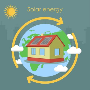 Solar energy house panel ecology earth