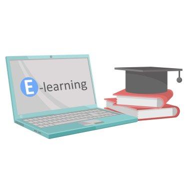 E-learning books icon web