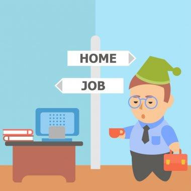Businessman work home workaholic