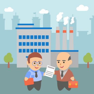 Business businessman client pairs character plant ecology