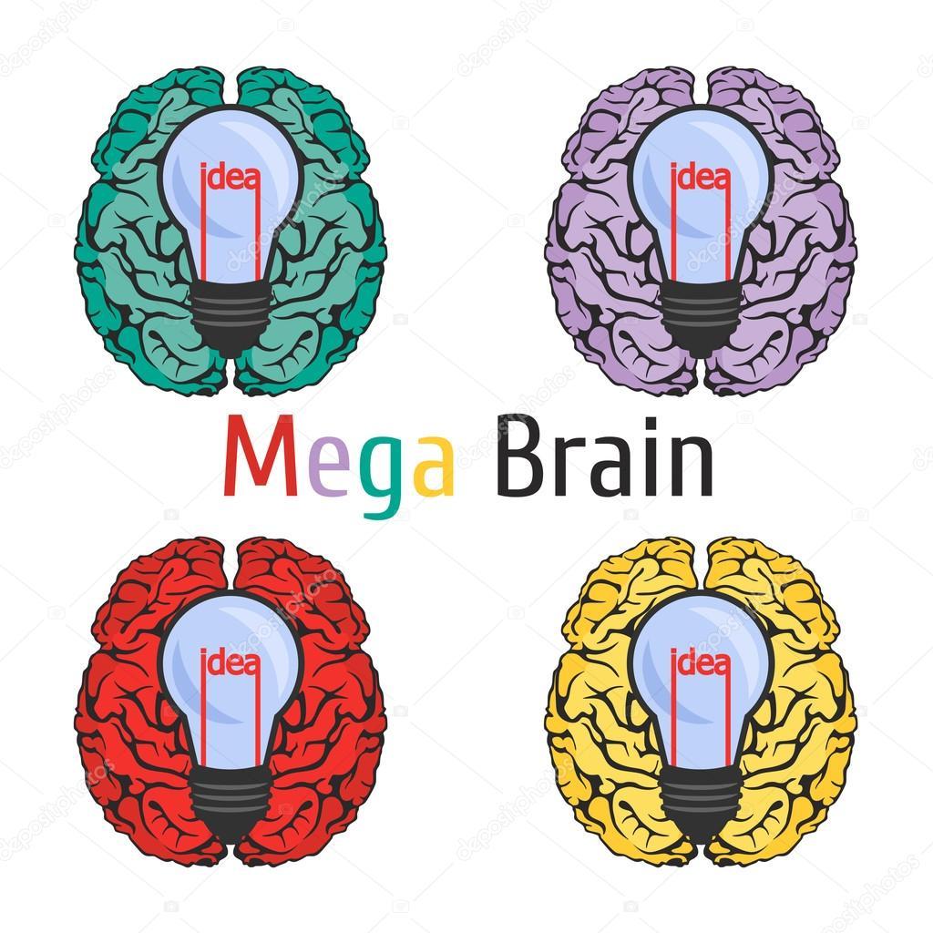Icono de la anatomía cerebral ciencia educación conocimiento idea ...