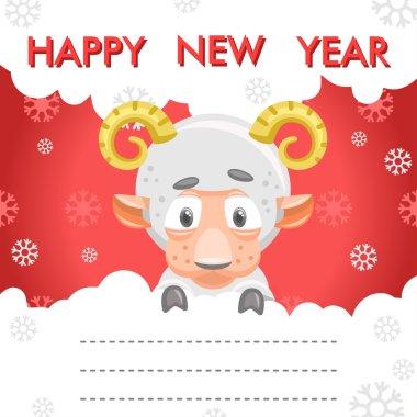 sheep new year card