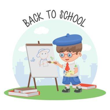Schoolboy school education art