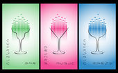 Collezione di cocktail party poster, flyer, invito o banner