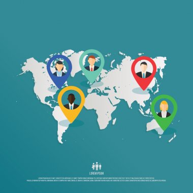 Depicting people around the world