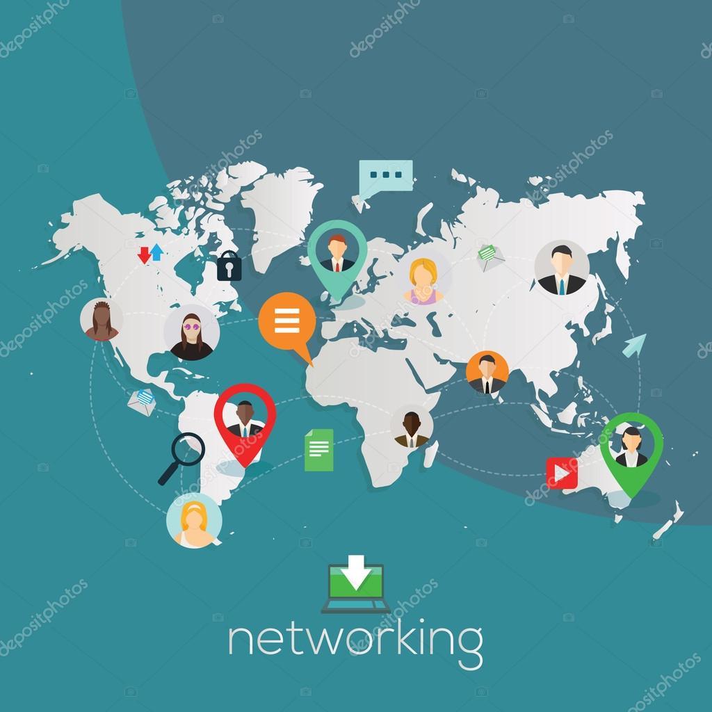 Global networking illustration.