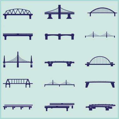 Set of  bridge icons.