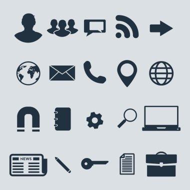 Global communication  icons