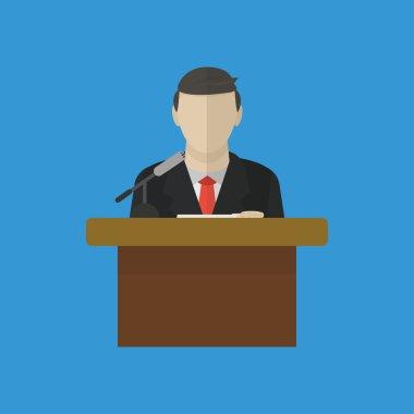 Public speaker illustration.