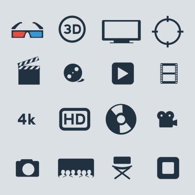 Movie icons set.
