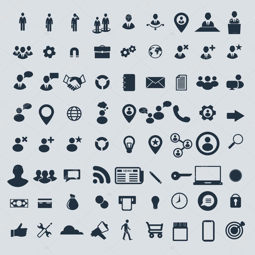 Big set of business icons.
