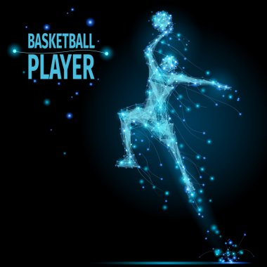 Basketball player polygonal