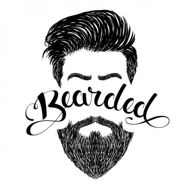 Logo bearded black