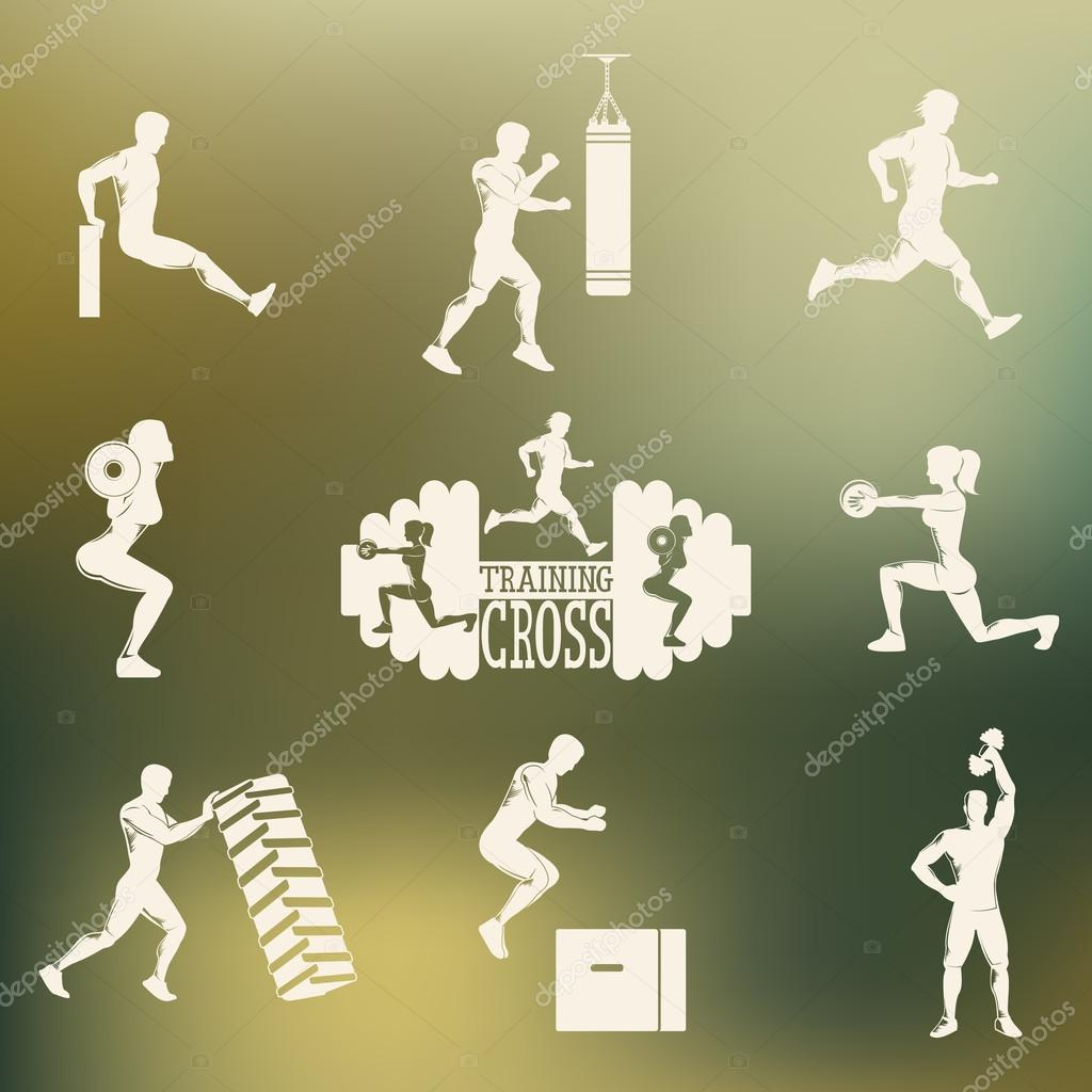 Cross Fitness silhouettes