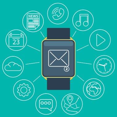 smart watch flat