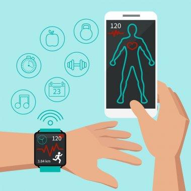 smart watch sport flat