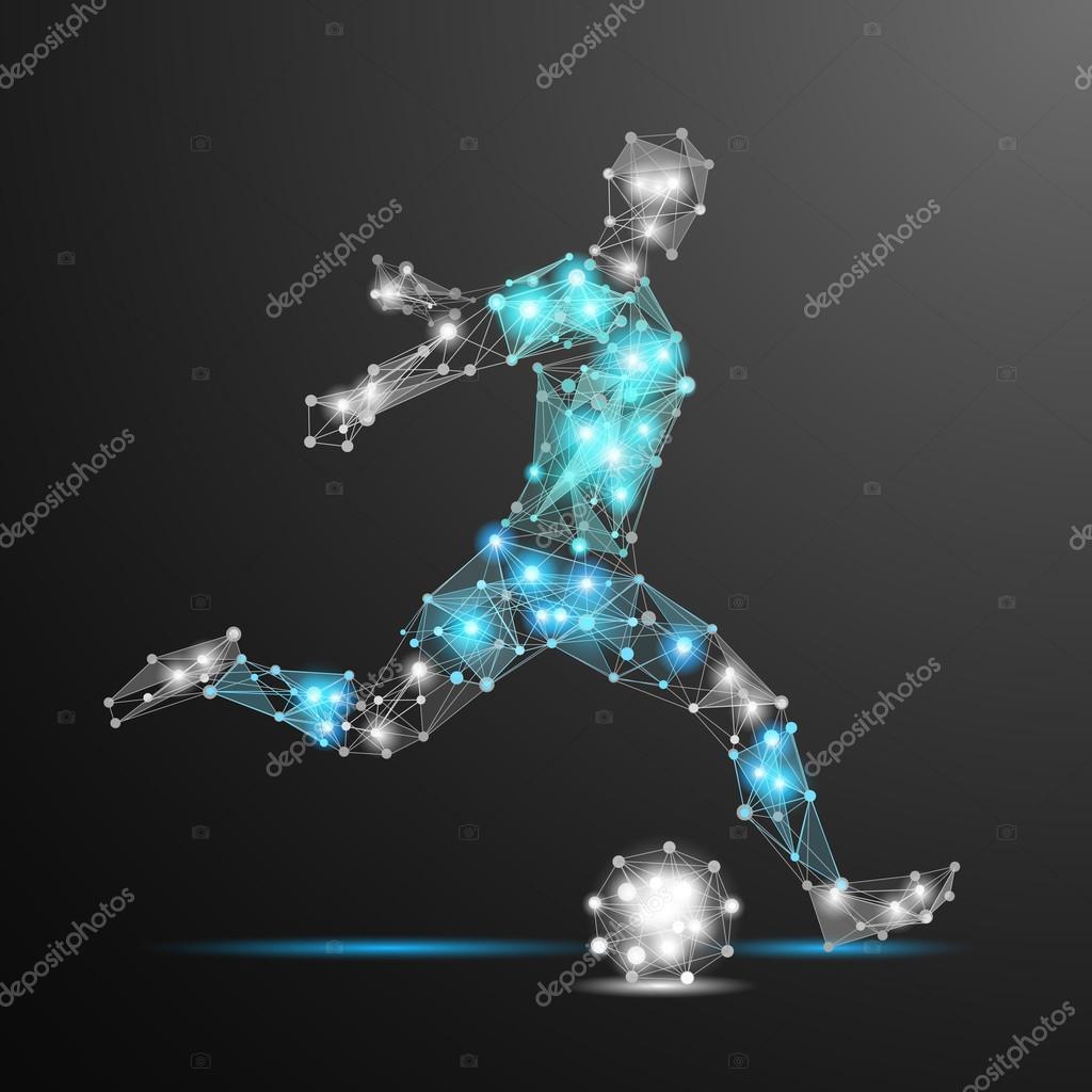 football player polygonal