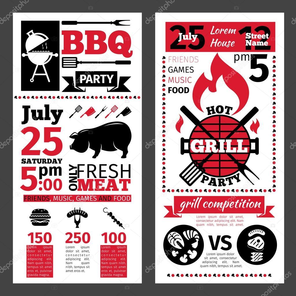 barbecue invitation stock vector tohey22 75654833