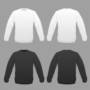 hoody white and black