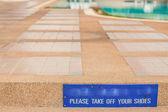 Varovným signálem na bazén.