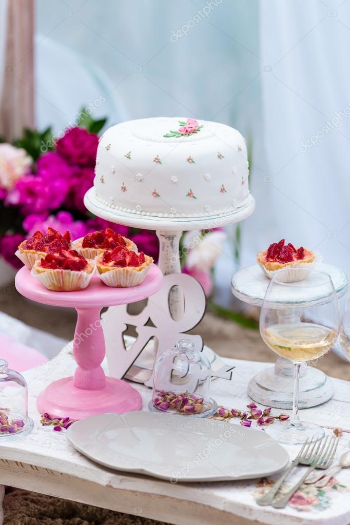 Torte Matrimonio Country Chic : Matrimonio o partito candy bar tavolo decorato dessert in colore