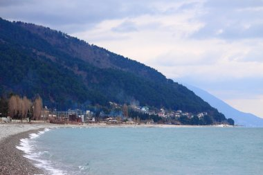 coast of Black Sea in Abkhazia