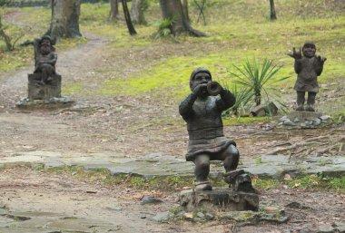 wooden sculptures in park of Sochi