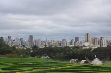 downtown of Curitiba, the view from Botanical garden