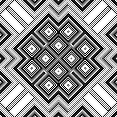 Seamless black and white geometric background