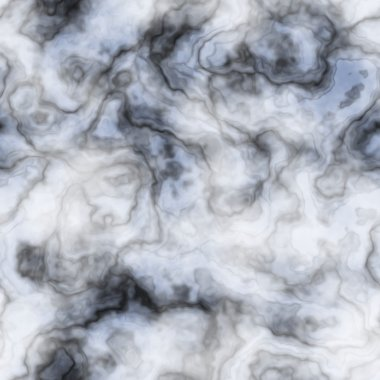 Marble - black, white and blue - seamless background