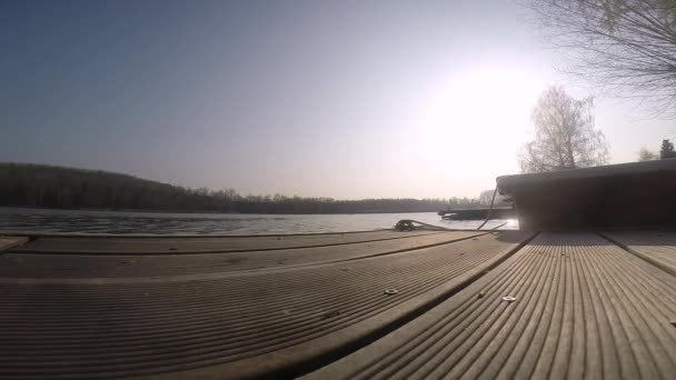Bridge water boat lake lapse timelapse