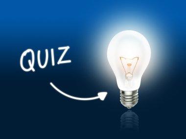 Quiz Bulb Lamp Energy Light blue