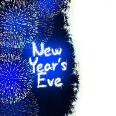 new years eve anniversary firework celebration party blue