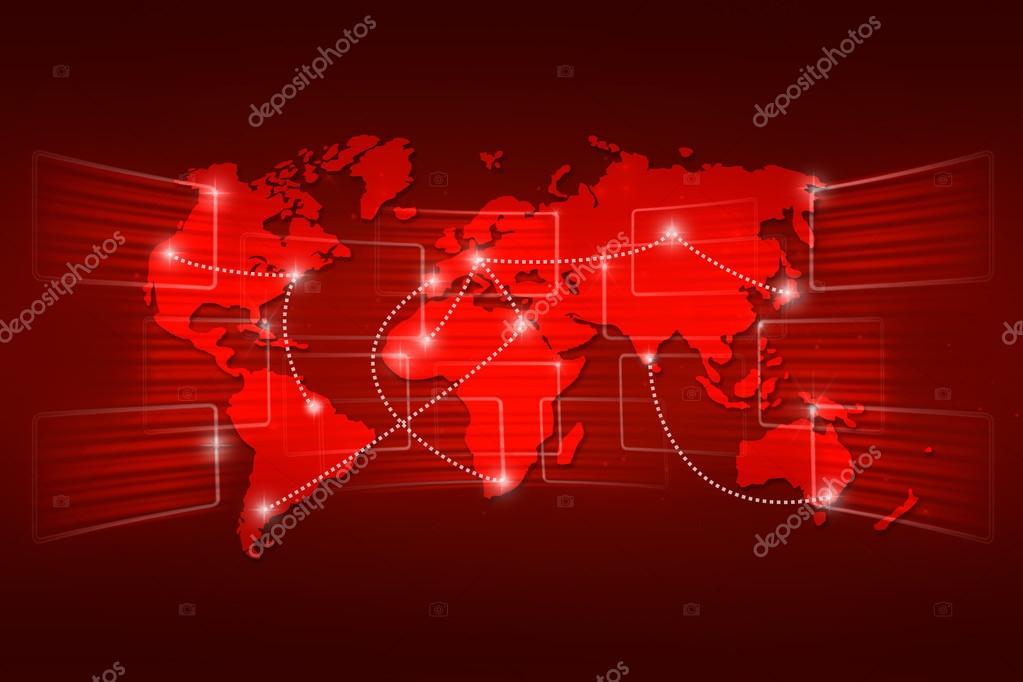 Fondo mundial mapa geografa mundial orden envo rojo fotos de world map geography world order background shipping global red foto de artefacti gumiabroncs Image collections