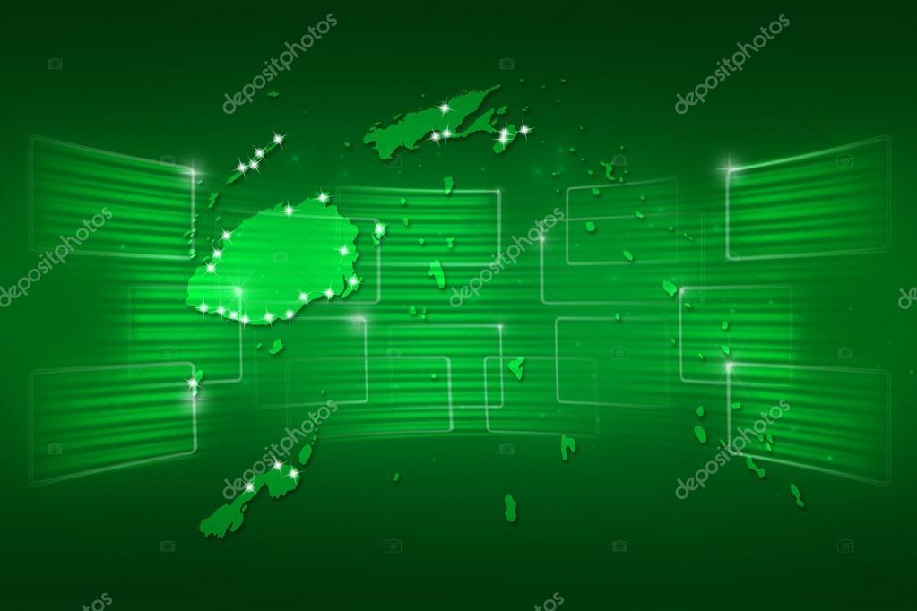 Fiji Islands Map World Map News Communication Green Stock