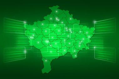 Kosovo Map World map News Communication green