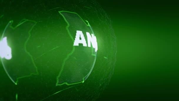 mapa světa mapa Angoly News komunikační zeleně