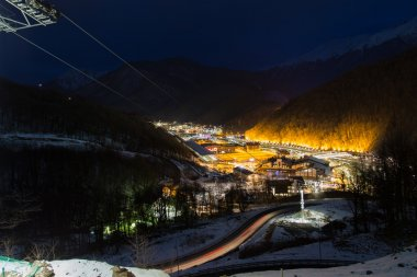 The ski resort of Krasnaya Polyana. Rosa Khutor. Sochi. Russia.