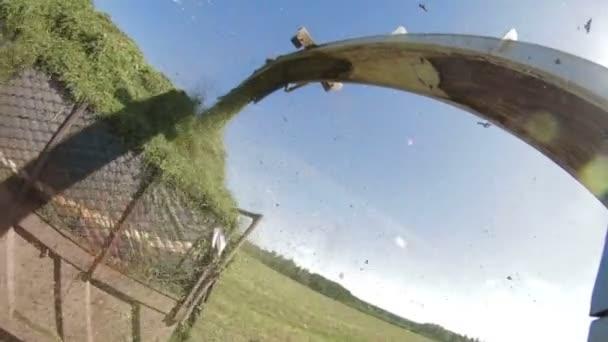 POV farmář Combain sklizeň v poli