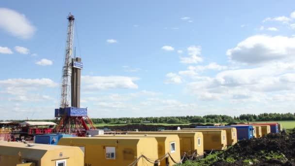 Mračna nad plynu ropné vrtné soupravy