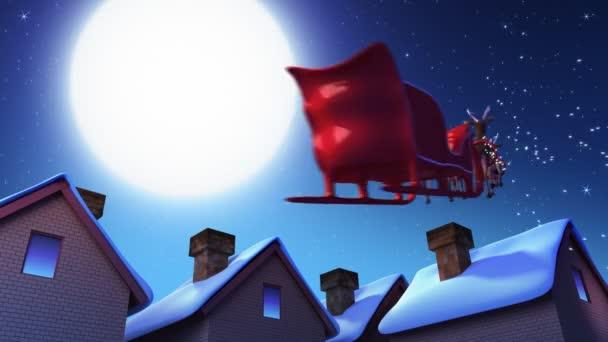 Santa Claus a jeleni