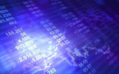Abstract stock market