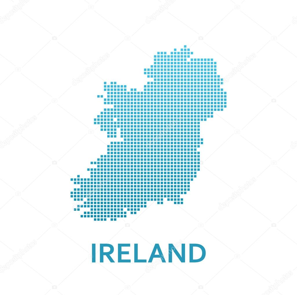 Map Of Ireland Vector.Pixel Map Of Ireland Stock Vector C Morozicoff Yandex Ru 113127904